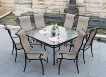 "Haven 60"" Square Dining Set of Nine (MF) (15% Off!)"