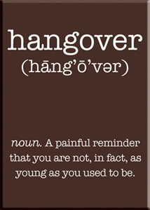 Hangover. A painful reminder... Magnet