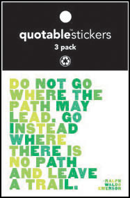 Leave A Trail Emerson Quotable Stickers 3-Pk