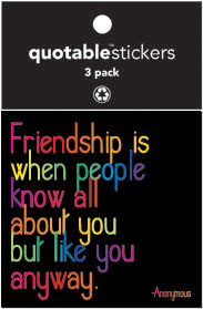 Friendship Is Quotable Stickers 3-Pk