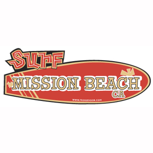 Surf Board Town Car Magnet