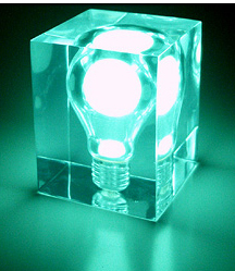 Glow Brick Green Night Light
