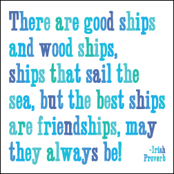 Good Ships and Wood Ships Quotable Magnet