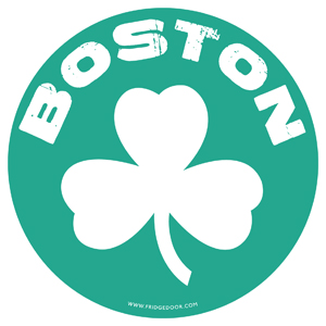Boston Shamrock 5 In Car Magnet