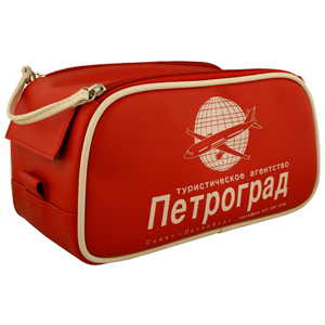 F1 Retro Flight Dopp Kit Red