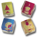 Happy Birthday Cubed Magnet 4-Pack