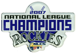Colorado Rockies 07 NL Champs Laser Cut  Magnet