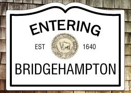Entering Bridgehampton NY Fridge Magnet