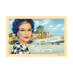 Our Baggage - Magnetic Postcard