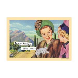 I'll Be Louise - Magnetic Postcard