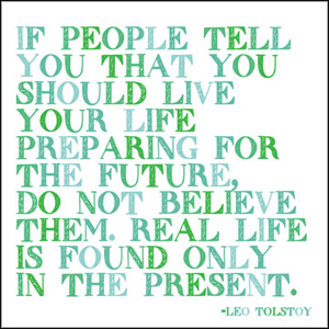 In The Present - Leo Tolstoy Magnet
