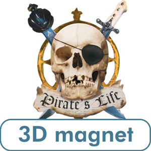 3 D Pirate's Life Magnet