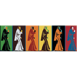 Elvis Presley Warhol Style Magnets