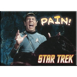 Star Trek Mr Spock Pain Magnet