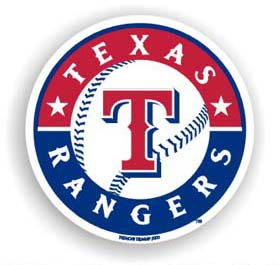 Texas Rangers Car Magnet
