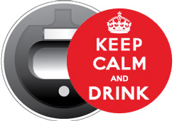 Keep Calm and Drink Magnetic Bottle Opener