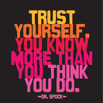Trust Yourself Dr Spock Magnet