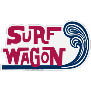 Surf Wagon Car Magnet