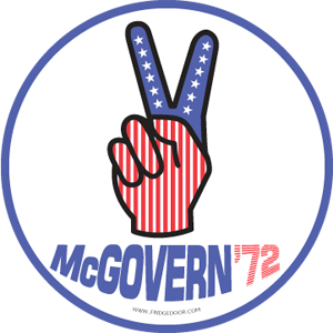 George McGovern Peace Sign Car magnet
