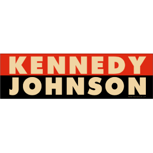 Kennedy Johnson Retro Election Car Magnet