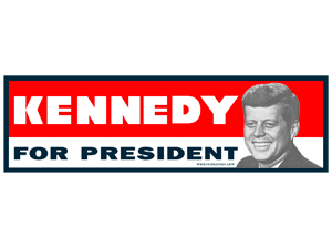 Kennedy For President  Car Magnet