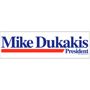 Mike Dukakis For President Car Magnet