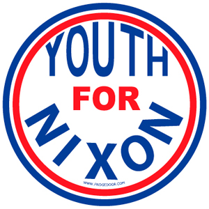 Youth For Nixon Car Magnet