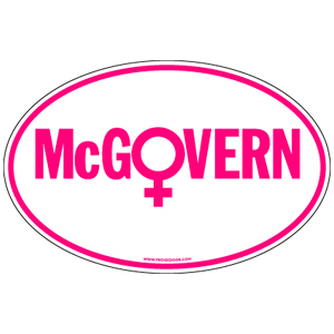 George McGovern - Women Version For President Car Magnet
