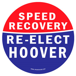 Herbert Hoover Re - Elect Car Magnet