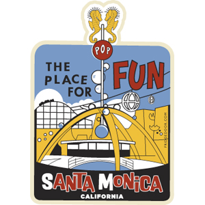 Santa Monica The Place For Fun Magnet