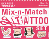 Blue Q Mix-n-Match Tattoo Set
