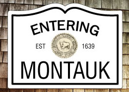 Entering Montauk NY Fridge Magnet