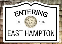 Entering East Hampton NY Fridge Magnet