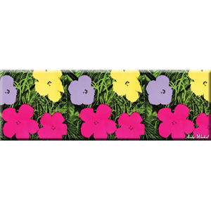 Andy Warhol Flowers Magnet