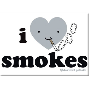 I Heart Smokes Magnet