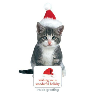 Paper House Holiday Kitten Card