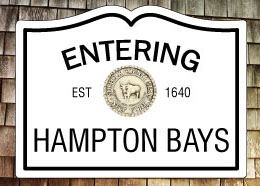 Entering Hampton Bays NY Fridge Magnet