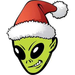 Alien Santa Car Magnet