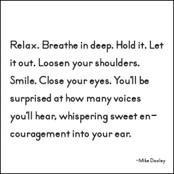 Relax Breath Deep Quotable Magnet