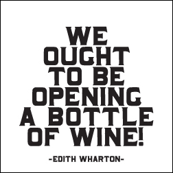 Opening A Bottle of Wine Quotable Magnet