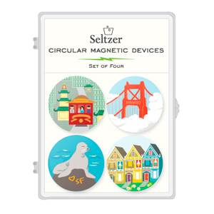 San Francisco Icons Magnet Set