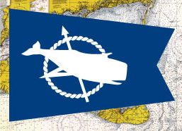 Nantucket Whale Flag Fridge Magnet
