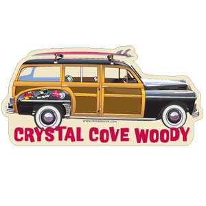 Woody Car Crystal Cove Car Magnet
