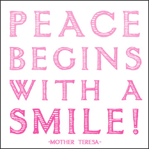 Peace Begins - Mother Teresa Quotable Cards