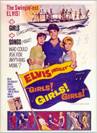 """Girls! Girls! Girls!"" Movie Poster Magnet"