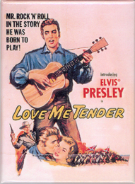 """Love Me Tender"" Movie Poster Magnet"