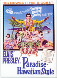 """Paradise - Hawiian Style"" Movie Poster Magnet"