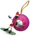 Bender Snowboarding Mrs. Claus Magnetic Ornament