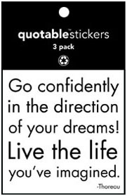 Go Confidently Thoreau Quotable Stickers 3-Pk