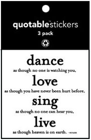 Dance Love Sing Souza Quotable Stickers 3-Pk